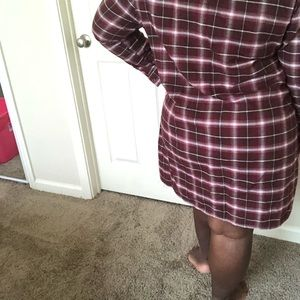 Shirt dress or cardigan plaid